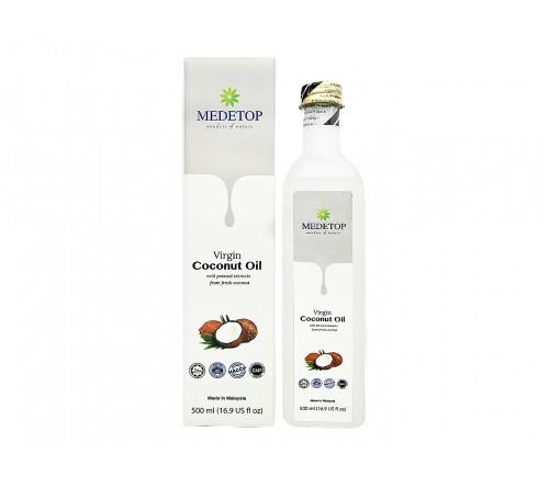 MEDETOP Virgin Coconut Oil 500ml (16.9 US fl oz)