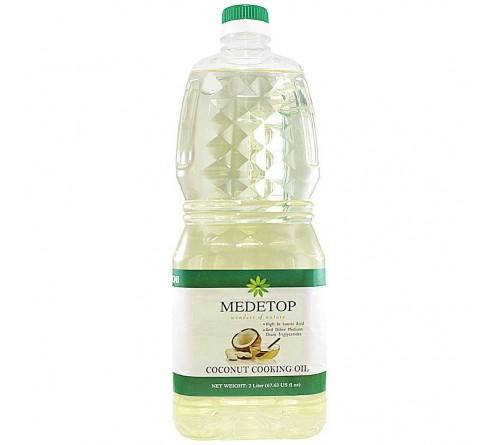 MEDETOP Coconut Cooking Oil 2Liter (67.63 US FL OZ)