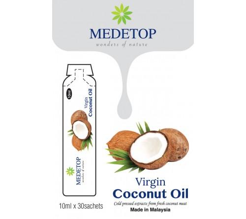 MEDETOP Virgin Coconut Oil 10ml x 30 Sachets (0.338US Fl Oz)