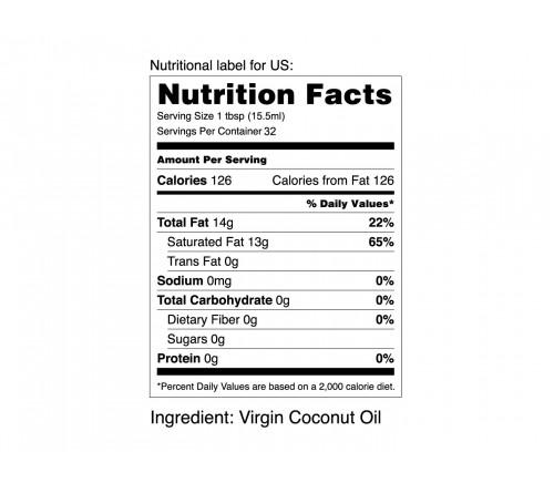 MEDETOP Virgin Coconut Oil 250ml (8.45 US fl oz)