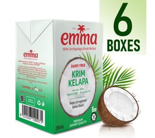 6 x Emma UHT Coconut Cream 200 mL, 24% Fat