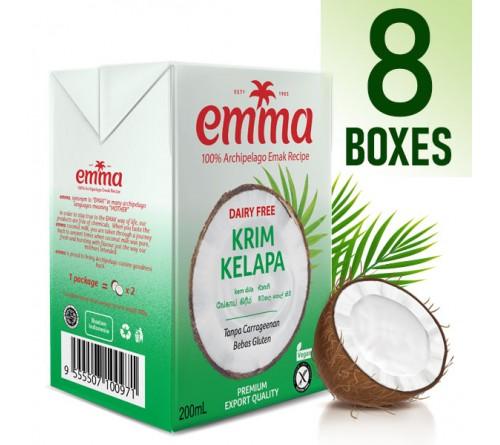 8 x Emma UHT Coconut Cream 200 mL, 24% Fat
