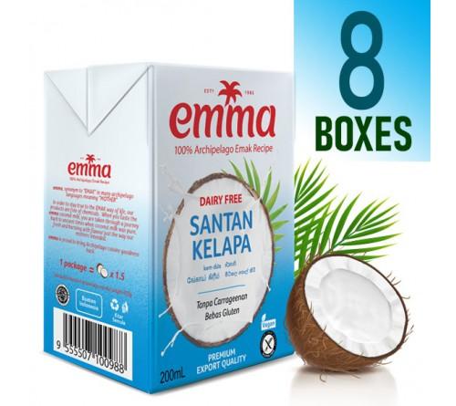 8 x Emma UHT Coconut Milk 200 mL, 18% Fat